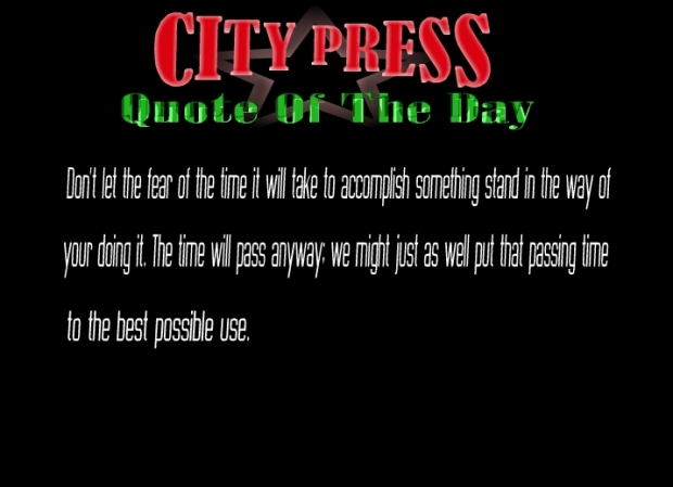 quote of the day project official july august 21